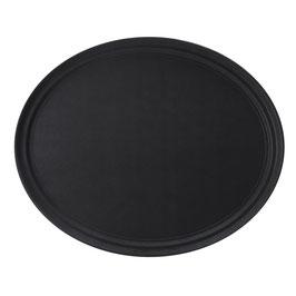 Vassoio Ovale 62,5x52 cm Nero , antiscivolo