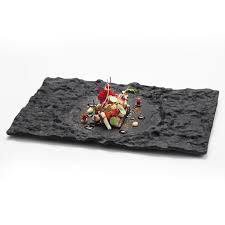 CRATER GLASS RECT. TRAY  , 29x18cm ,  scatola da 4 pz.