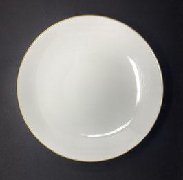GOLD BARONI  30cm Piatto fondo in fine bone china , 1pz.
