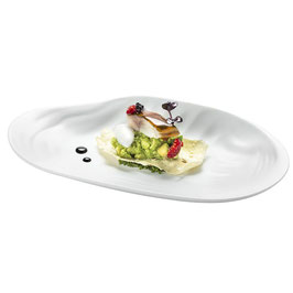 MED FLAT TELLIN TASTING PLATE GLOS , 25x14cm ,  1 pz.