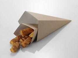 cono da fritti , dimensioni 9,5x9,5x22,5