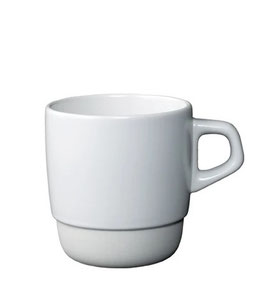 Tasse café 320ml empilable Blanc  SCS - Kinto