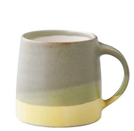 Tasse café tricolore Vert 320ml - Kinto