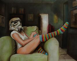 Lady Sandtrooper, óleo/tela