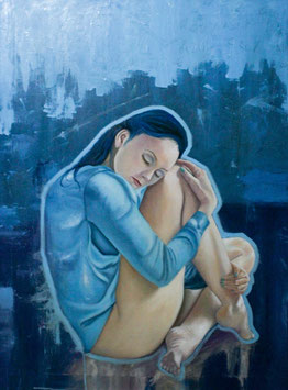 Azul, óleo/tela (oil on canvas)