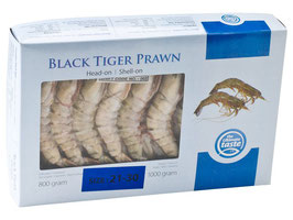 73126 Black Tiger Shrimps 1kg (31/40)