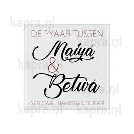 Tegel Maiya en Betwa (Moeder en Zoon) 10x10cm