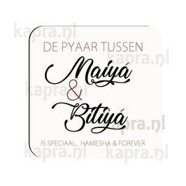 Onderlegger Maiya en Bitiya