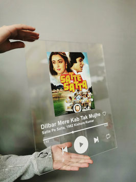 Bollywood Spotify Plexiglass