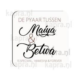 Onderlegger Maiya en Betwa