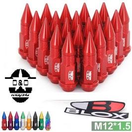 Blox Forged Aluminum Spike Lug Nuts M12x1.25 Länge 50mm inkl. Spikes