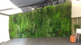Mur végétal artificiel feuillus