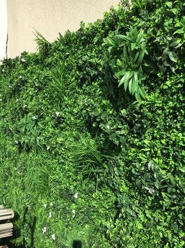 Mur végétal artificiel relief