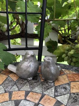 2er Set Vögel -silber-