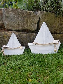 Segelboote weiß - 2er Set