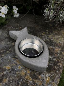 Fisch-Teelicht -leicht marmoriert-