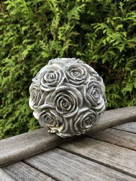 Große Rosenkugel -silber-