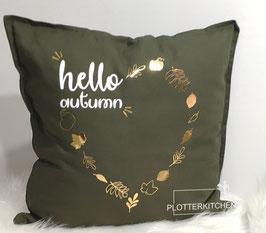 "Deko-Zierkissen ""hello autumn"" Hallo Herbst"