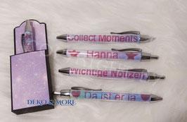 Geschenk Kugelschreiber personalisiert mit Geschenksverpackung