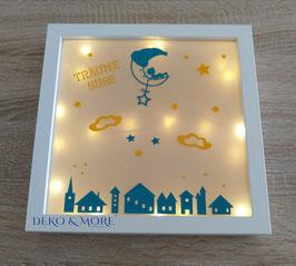 Bilderrahmen  Baby am Mond  inkl. Led Lichterkette