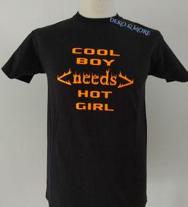 Plotter Druck COOL BOY needs HOT GIRL für Deine Kleidung