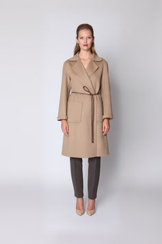 HAND-MADE DOUBLE FACE COAT IN BUTTERSCOTCH CASHMERE SIZE M