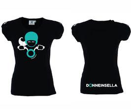 T-shirt Glitter Nera Donneinsella