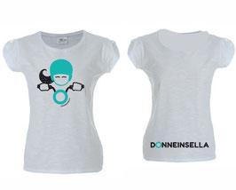 T-shirt Glitter Bianca Donneinsella