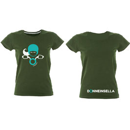 T-shirt Glitter  MALDIVE VERDE Donneinsella