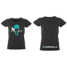 T-shirt Glitter  MALDIVE NERA Donneinsella