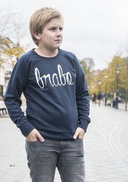 Brabo trui donkerblauw met witte letters