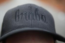Brabo cap zwart met zwarte letters
