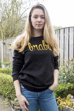 Brabo trui zwart met gele letters