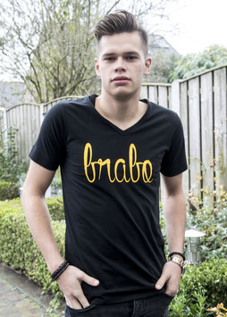 Brabo shirt zwart met gele letters