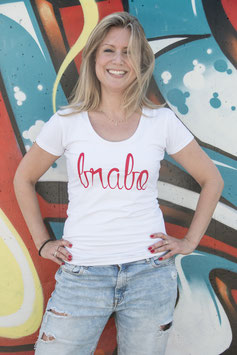Brabo shirt wit met rode letters