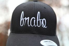 Brabo cap zwart met witte letters