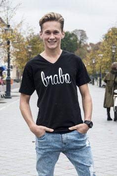 Brabo shirt zwart met witte letters