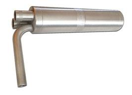KS-Dämpfer-Twin mit 2x Frontein- und Auslaß