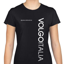 T-SHIRT NERA VOLGO ITALIA - MOD.SIMPLE