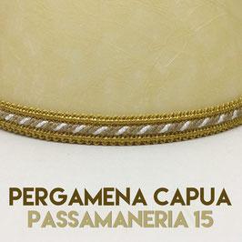 VENTOLA SAGOMATA PERGAMENA CAPUA CON PASSAMANERIA 15
