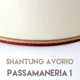 VENTOLA SAGOMATA SHANTUNG AVORIO PASSAMANERIA 1