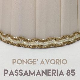 CONO PLISSE' PONGE' AVORIO CON PASSAMANERIA 85
