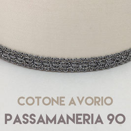 CONO PVC COTONE AVORIO CON PASSAMANERIA 90