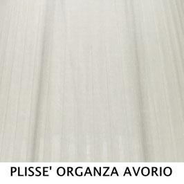 CONO PLISSE' SENZA PASSAMANERIA ORGANZA AVORIO