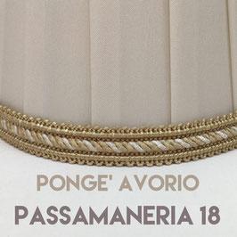 IMPERO PLISSE' PONGE' AVORIO CON PASSAMANERIA 18