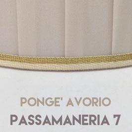 IMPERO PLISSE' PONGE' AVORIO CON PASSAMANERIA 7