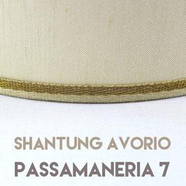 VENTOLA SAGOMATA SHANTUNG AVORIO PASSAMANERIA 7