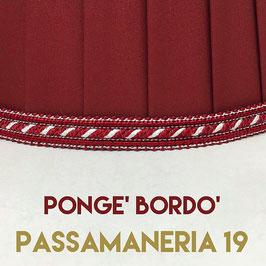 IMPERO PLISSE' PONGE' BORDO' CON PASSAMANERIA 19