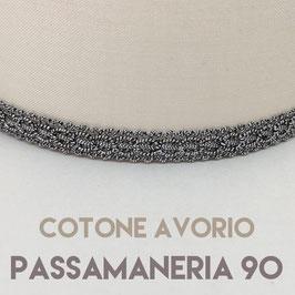 IMPERO PVC COTONE AVORIO CON PASSAMANERIA 90
