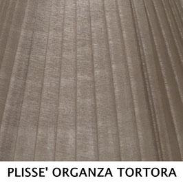 CONO PLISSE' SENZA PASSAMANERIA ORGANZA TORTORA
